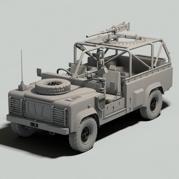 british land rover defender 3d model. Black Bedroom Furniture Sets. Home Design Ideas
