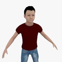 3d teenager david model
