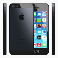 iphone 5 slate black 3d model