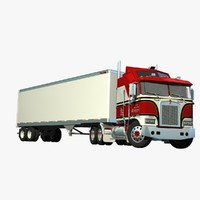 Kenworth K100 & Van Trailer