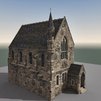 3d model building edinburgh scene