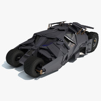 3d model batmobile tumbler batman car