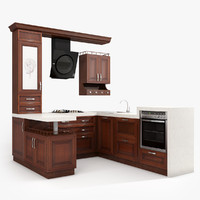 kitchen eclecticism 3d dwg