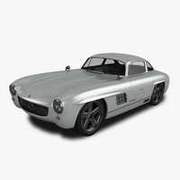 gullwing-america 300sl 3d model