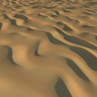 3d desert sand