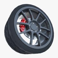 weds sport carbon fiber 3d max