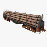 uncovered wagon 3d model