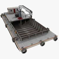 3d barge deck crane model