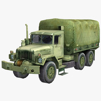 3d military truck m35 2½