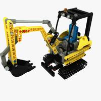maya set compact excavator lego