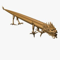 straight dragon 3d model
