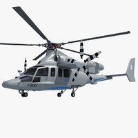 eurocopter x3 helicopter 3d model