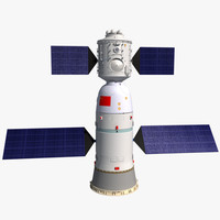 spaceship space shenzhou 3d model