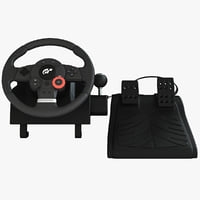 USB Game Racing Steering Wheel