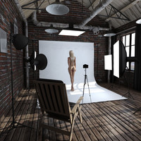 photo studio 3D models