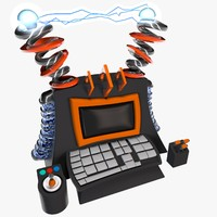 cartoon computer 3d c4d