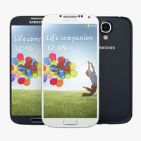 Samsung Galaxy S 4 white and blue
