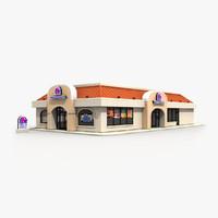 taco bell restaurant building 3d model