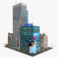 level downtown city block 3d ma