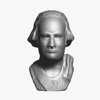 3d george washington bust