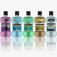 3d listerine 5 colors animation