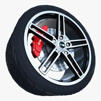 enkei razr wheel tire 3d max
