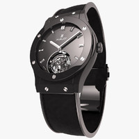 3d model hublot classic fusion tourbillon