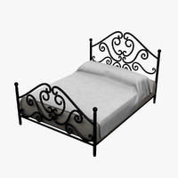 antique bed 3d lwo