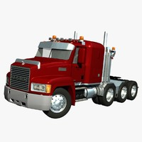 3d mack ch truck heavy model