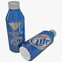3d miller lite aluminum bottle model
