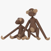 max realistic wooden monkey