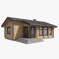3dsmax log house