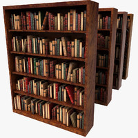 Old Wood Luxurious Bookcase