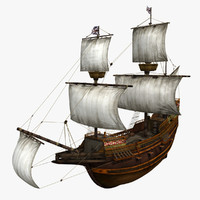 3d mayflower ship transported model