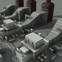 refineries 3d max