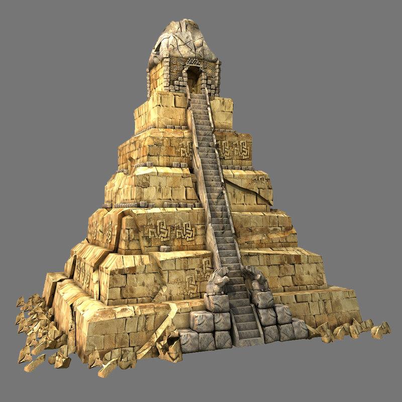 how to make mayan pyramid model