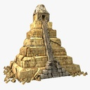 aztec pyramid 3D models