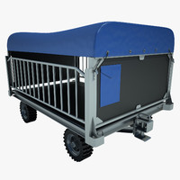 Baggage Cart Airport 04