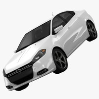 3d dodge dart limited sedan model