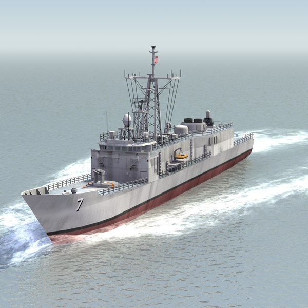 3d model of oliver hazard frigate navy ship