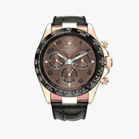 3d rolex daytona black leather model