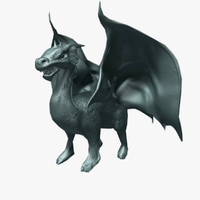 3d dragon sculpture model