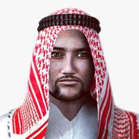 realistic arabic male character 3d model