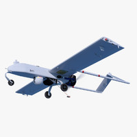 rq-7 shadow 200 unmanned 3d c4d