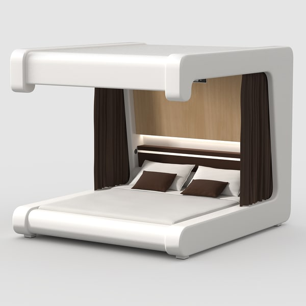 Futuristic Bed 3ds