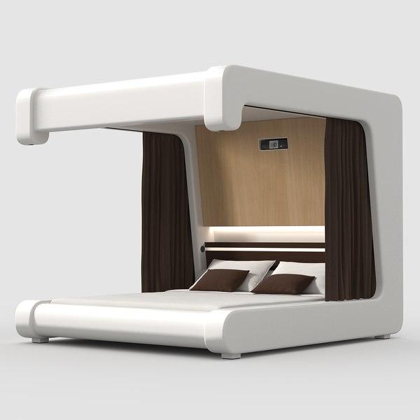 futuristic bed 3ds futuristic platform bed