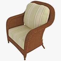 outdoor rattan armchair 2 3d 3ds