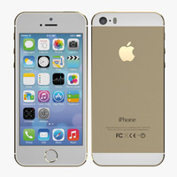 smartphone apple iphone 5s 3d model
