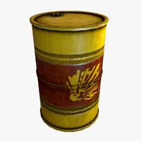 3d explosive barrel