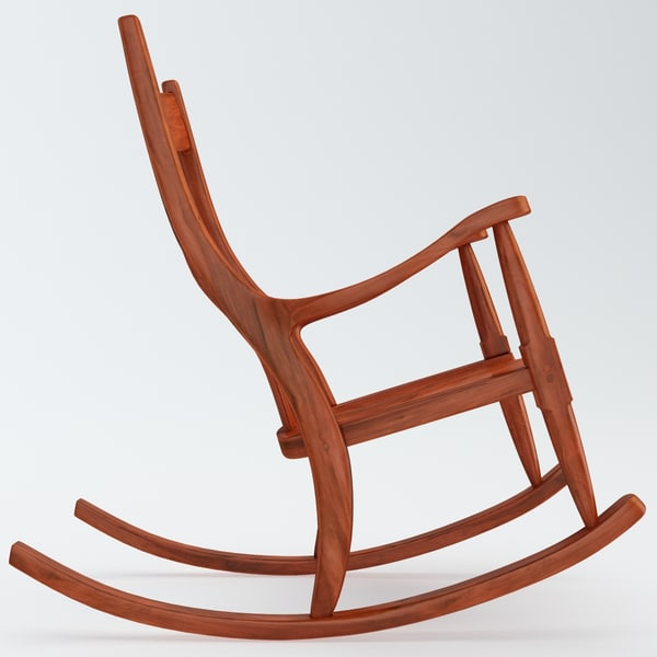 Top wooden rocking chair 3d max - Wooden Rocking Chair by 3d_molier 600 x 600 · 43 kB · jpeg